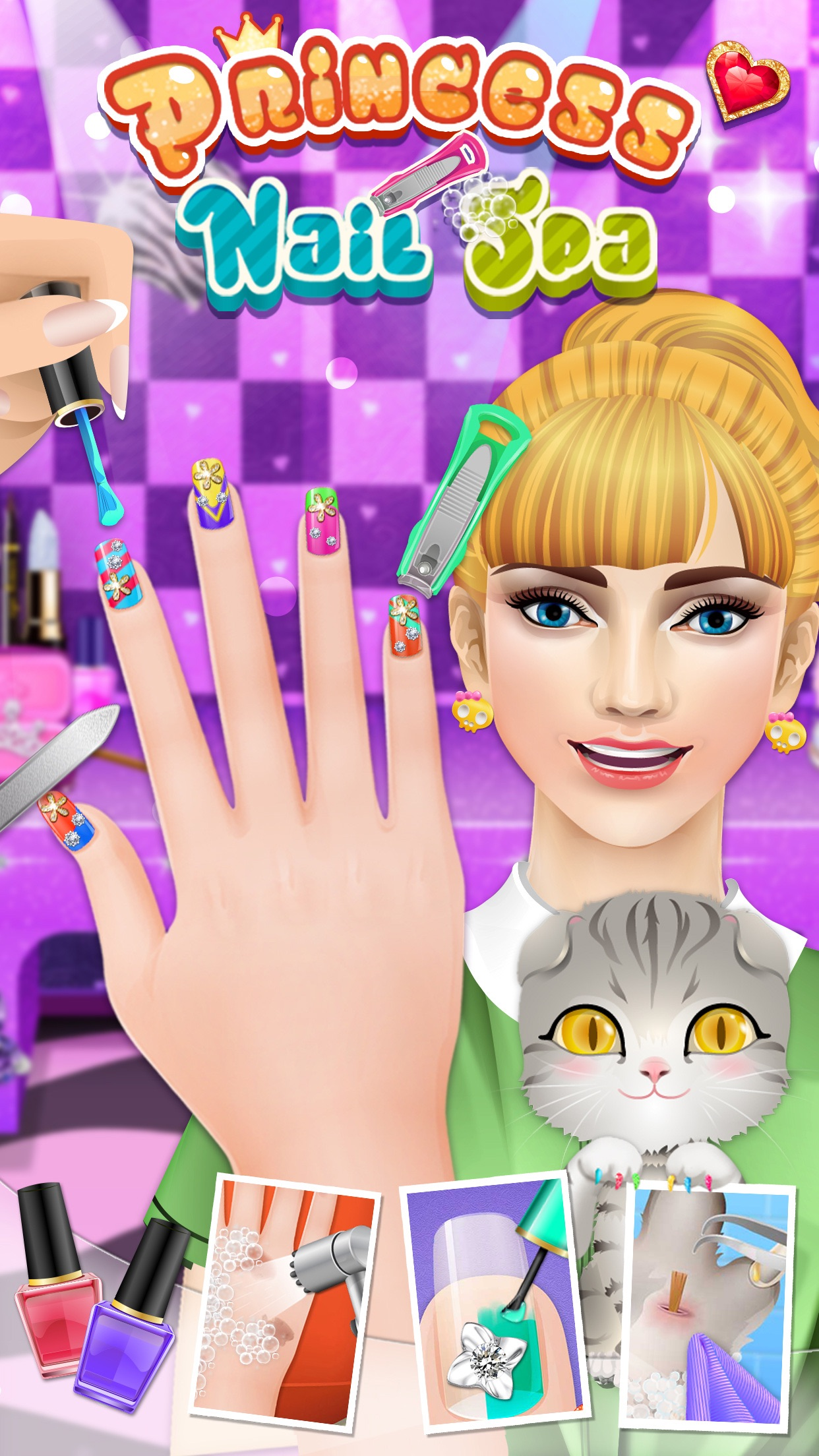 Nail Makeover - girls games Screenshot