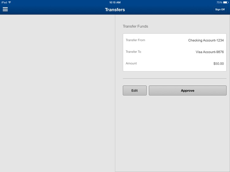 Nevada State Bank Business Mobile Banking for iPad by ZB, N A