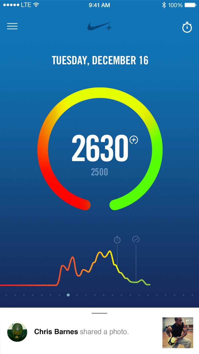 Nike+ Fuel Screenshot