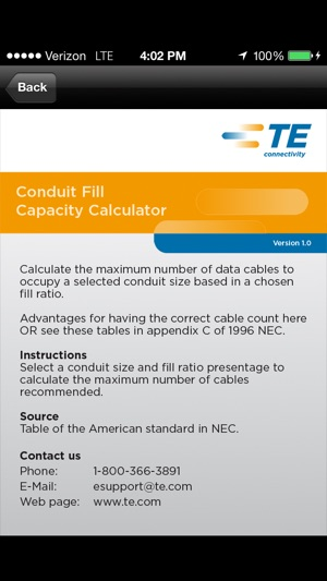 Conduit fill capacity calculator on the app store iphone screenshots greentooth Image collections