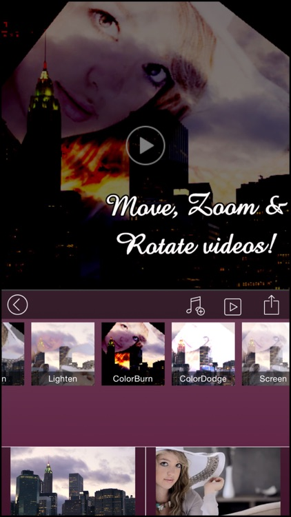 VideoBlend : Blend or overlay videos to make beautiful video effects