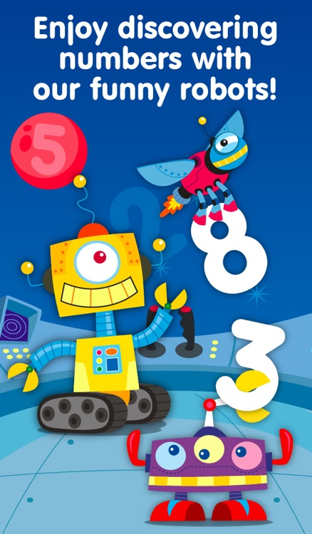 Robots & Numbers - games to learn numbers and practice counting, sums & basic maths for kids and toddlers (Premium)