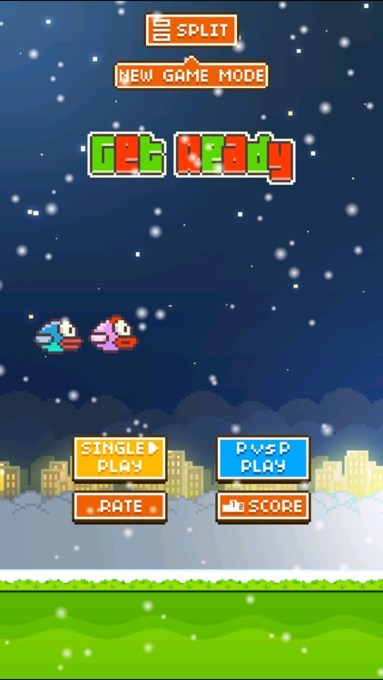 TinyFly Christmas 2014 - Xmas Flappy Racing - Multiplayer Birds Edition screenshot-3