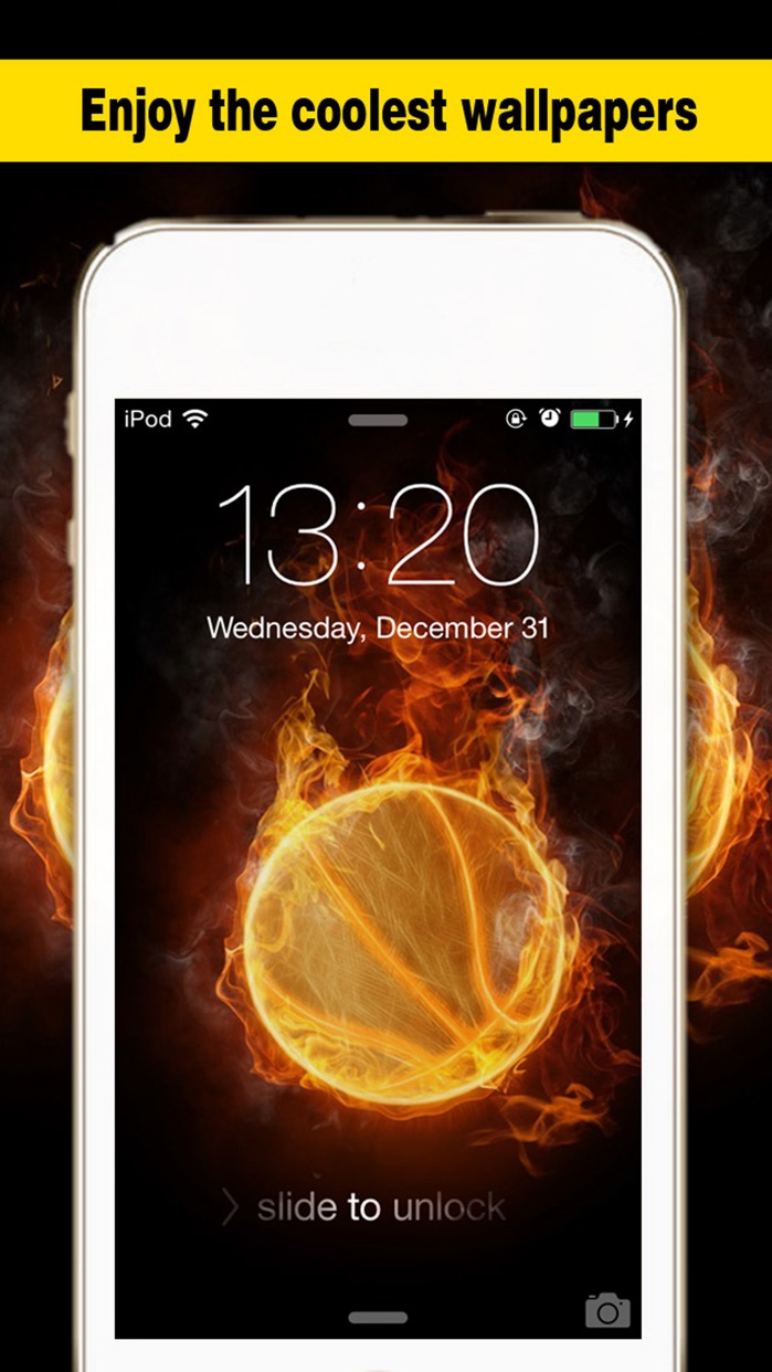 Basketball Screen - Wallpapers & Backgrounds Maker with Cool HD Themes of Players & Balls Screenshot