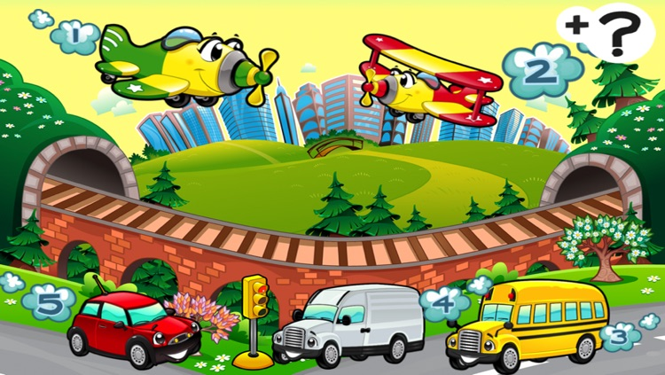 A Sort By Size Game of Cars and Vehicles for Children screenshot-0