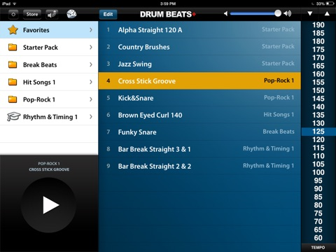 Drum Beats+ (Rhythm Metronome, Loops & Grooves Machine) Screenshot