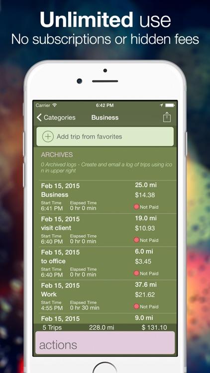 Easy GPS Mileage deduction log