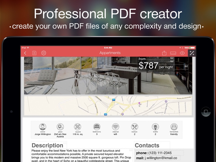 PDF Creator - professional PDF documents, invoices, postcards, resume screenshot-0