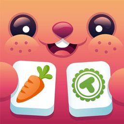 Toonia TwinMatch - Match Pairs of Animal, Bugs, Food and Space Cards with Mahjongg Solitaire Pairing Game for Kids & Toddlers