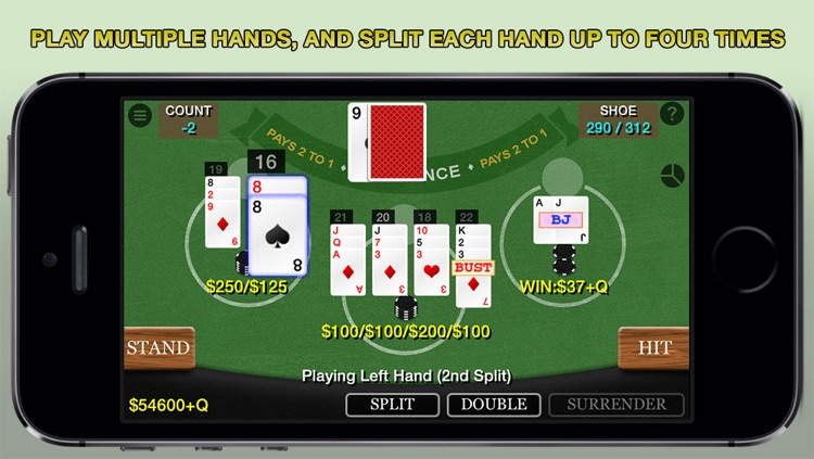 Blackjack 21 Pro Multi-Hand FREE + (Blackjack Pass/Spanish 21/Super 31) screenshot-0