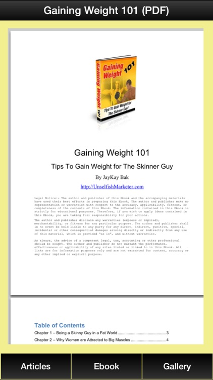 Gain Weight Guide - The Guide To Building Muscles for The Skinny Guy! screenshot-3