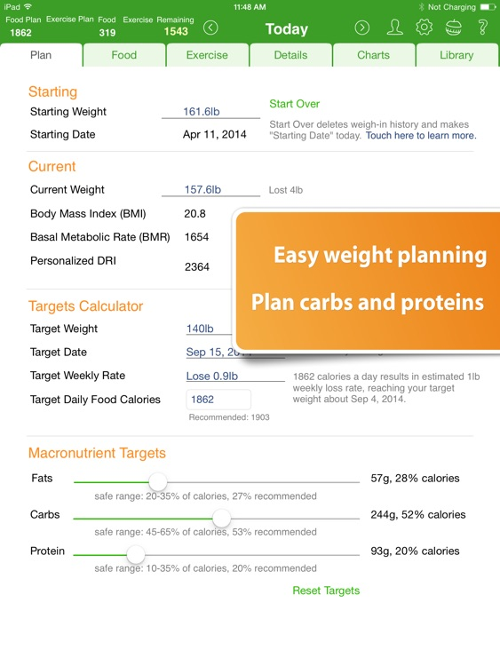 Food Diary and Calorie Tracker by MyNetDiary HD