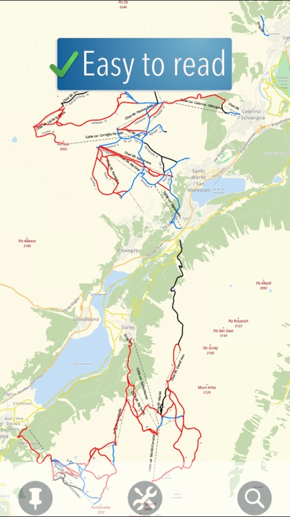 Sankt Moritz Ski Map screenshot-0