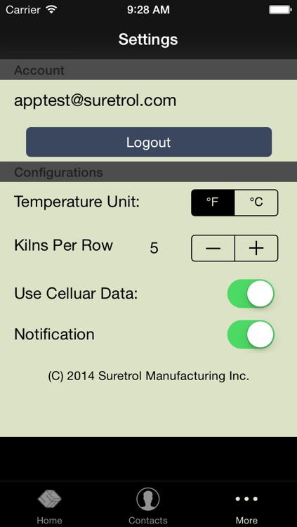 Kiln Monitor For iPhone
