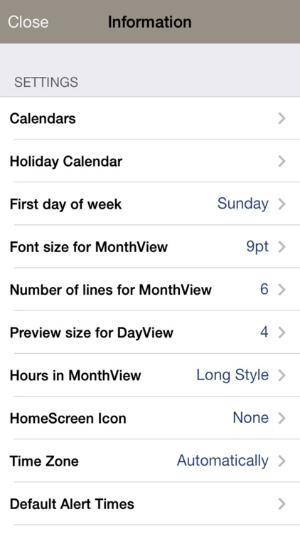Monthly Calendar Moca screenshot-3