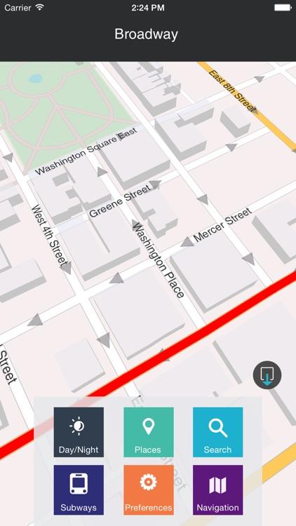 New York - Offline Map & city guide (w/ metro!) screenshot-3