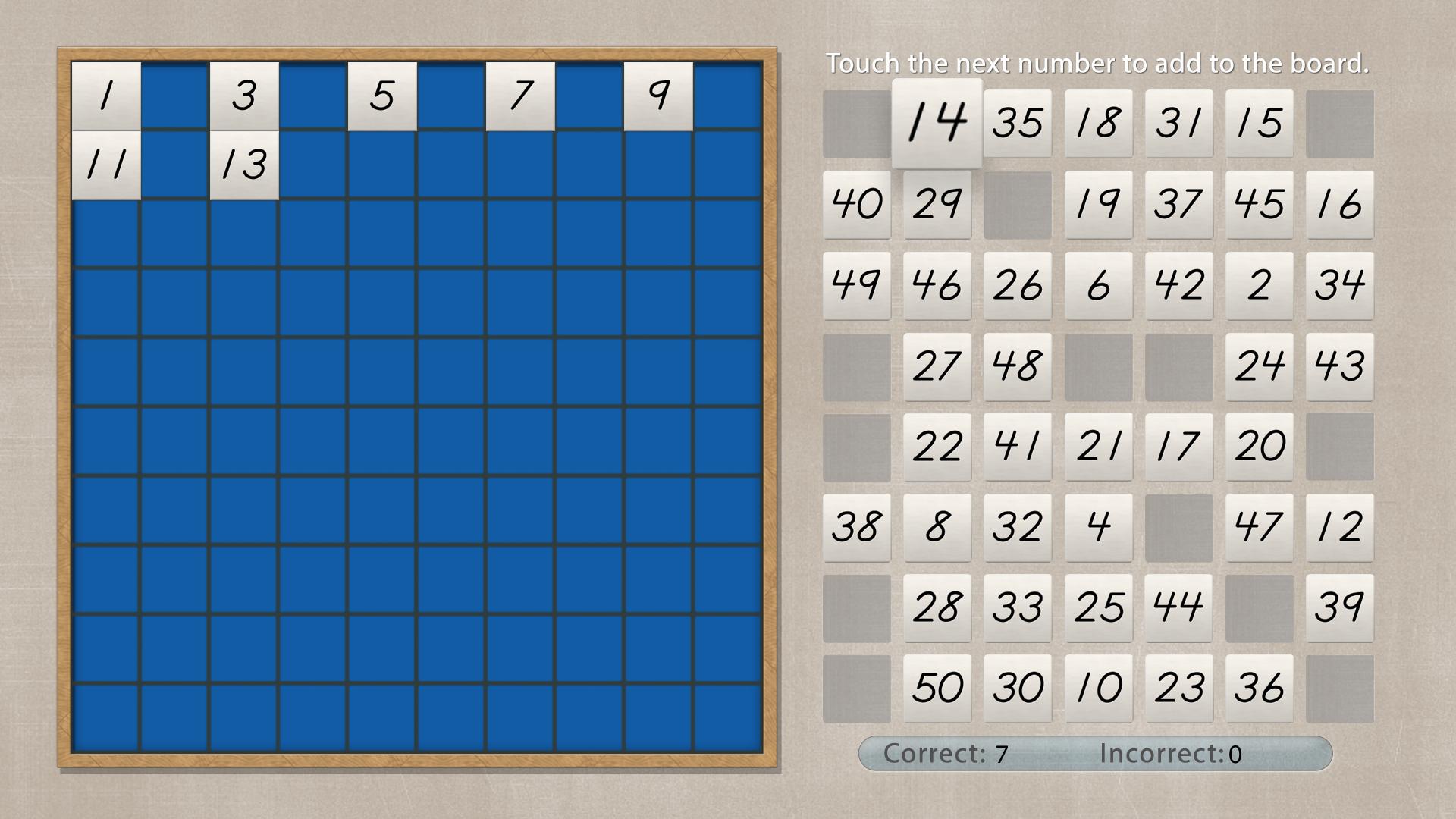 Hundred Board - Math by Mobile Montessori screenshot 5