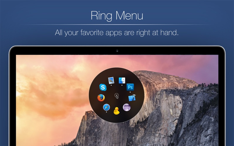 Ring Menu - Shortcut to your favorite Apps, Documents and Folders Screenshot