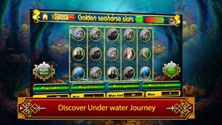 Golden seahorse progressive slotmachine: deep ocean adventure with plenty of treasure! screenshot one