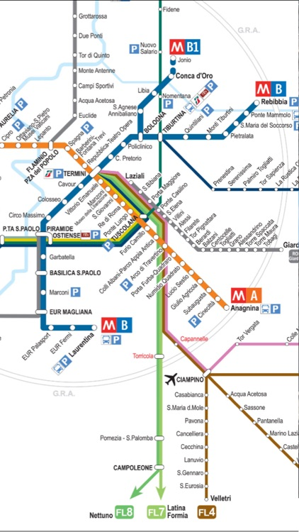Rome Vatican travel guide and offline city map - italy ATAC Trenitalia metro subway maps & guides screenshot-3