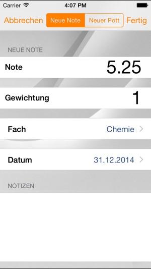 Notenverwaltung für Schüler im App Store