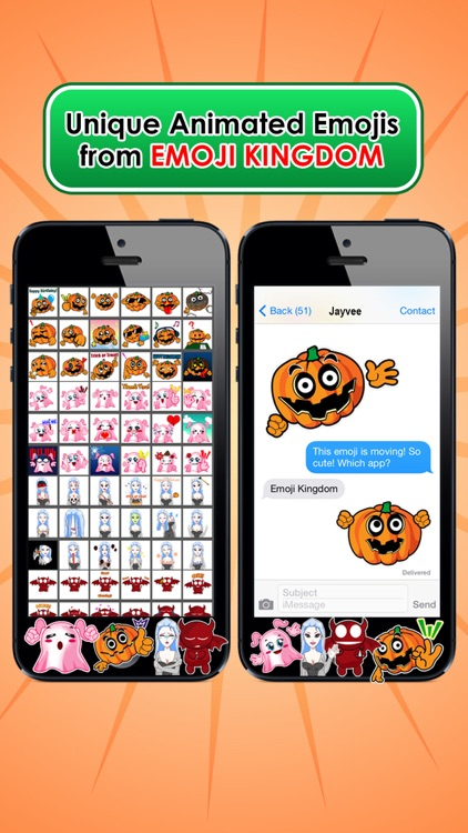Emoji Kingdom 15 Free Pumpkin Halloween Emoticon Animated for iOS 8