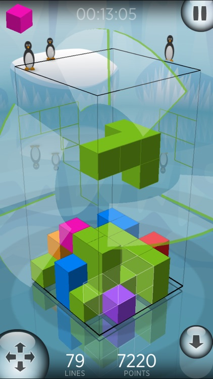 Fragmental 3D Lite - Build Lines with Falling Blocks! screenshot-2