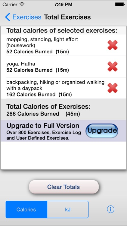 Exercise Calorie Calculator - Calculate the Calories Burned During Exercise screenshot-3