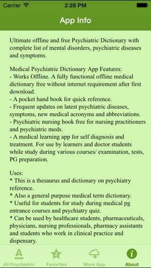 Medical Psychiatric Dictionary On The App Store