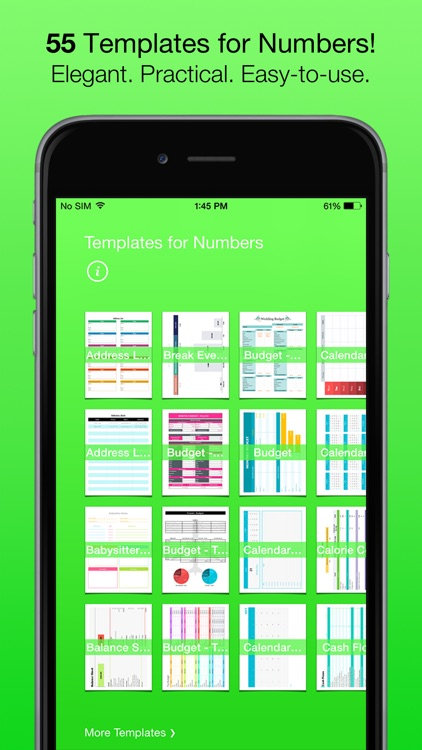 Templates for Numbers (for iPad, iPhone, iPod touch)