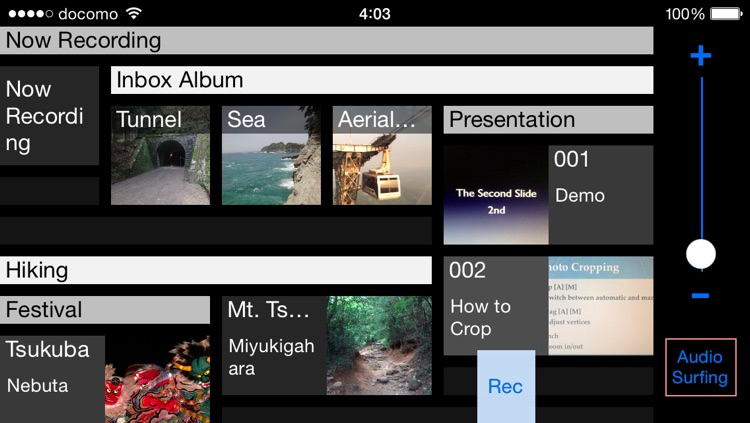 μ Rec - multimedia recorder and player (synchronize photo, video, audio, text, and location) with export & share function