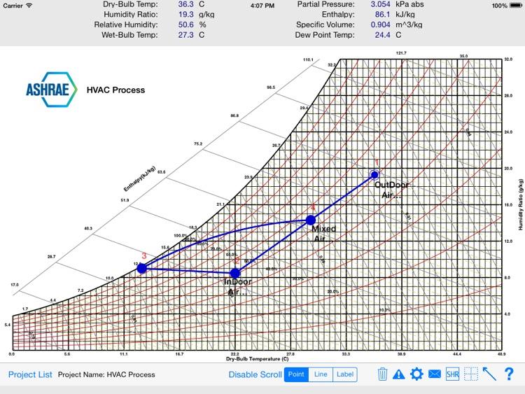HVAC Psychrometric Chart screenshot-4