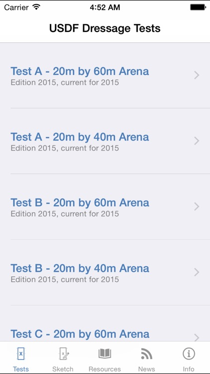 USDF EquiTests 1 - Introductory Tests, Freestyle Tests and Judges Resources screenshot-3