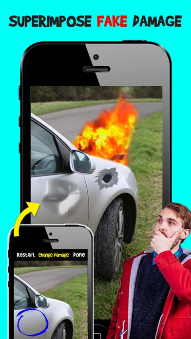 Damage Cam - Fake Prank Photo Editor Booth Screenshot on iOS