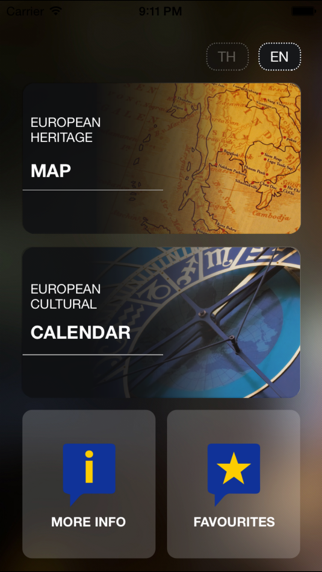 European Heritage Map and Cultural Calendar of Thailand-1