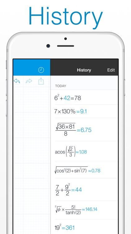 MyScript Calculator - Handwriting calculator screenshot-4