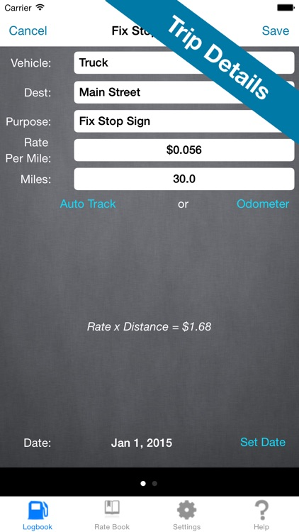 Mileage Expense Log 7 - Miles Tracker for Business, Tax, and Charity Deductions screenshot-3