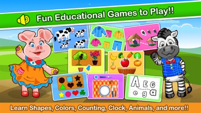 Kids Zoo Puzzle Learning Games - my endless pre-school & alphabet home play games for toddlers
