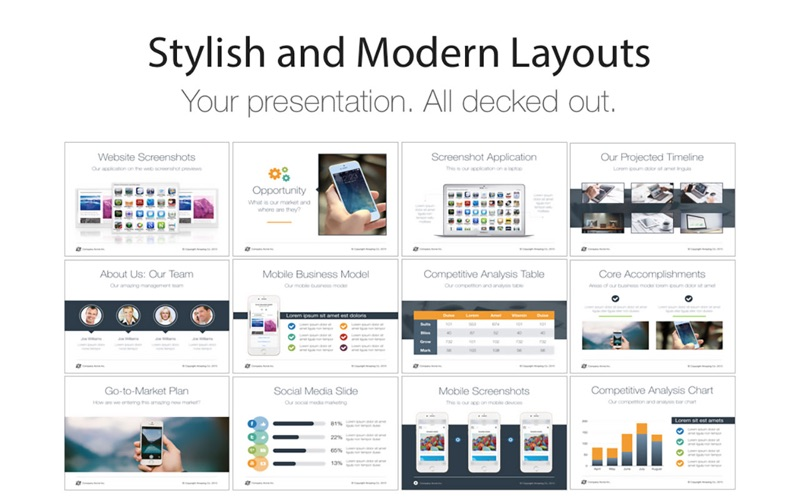 Pitch deck templates for keynote app price drops screenshot 2 for pitch deck templates for keynote flashek Image collections