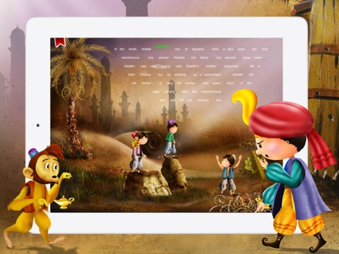 Aladdin and the Magical Lamp for children by Story Time screenshot 4