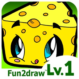 How to Draw - Kawaii Cute Drawing Cartoons - Popular Food Desserts Snacks - Fun Apps - Fun2draw™ Food Lv1