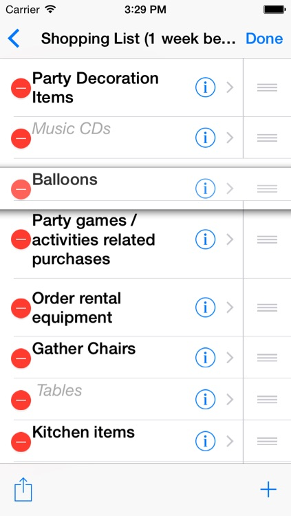 Birthday Planning List screenshot-3