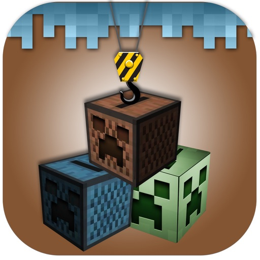 Block Stack Tower Builder - Swing drop square face down pro