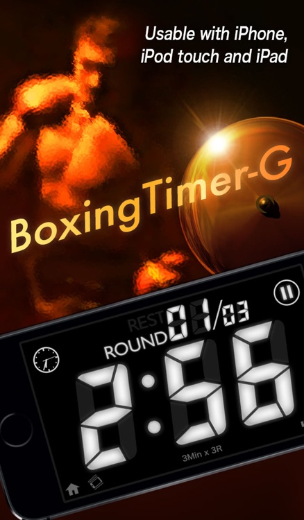 Boxing Timer G - Boxing Workout interval round timer screenshot-0