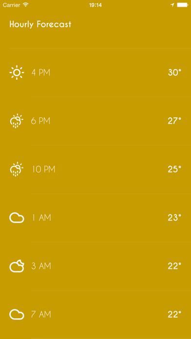 iWeather - Minimal, simple, clean weather appのおすすめ画像4