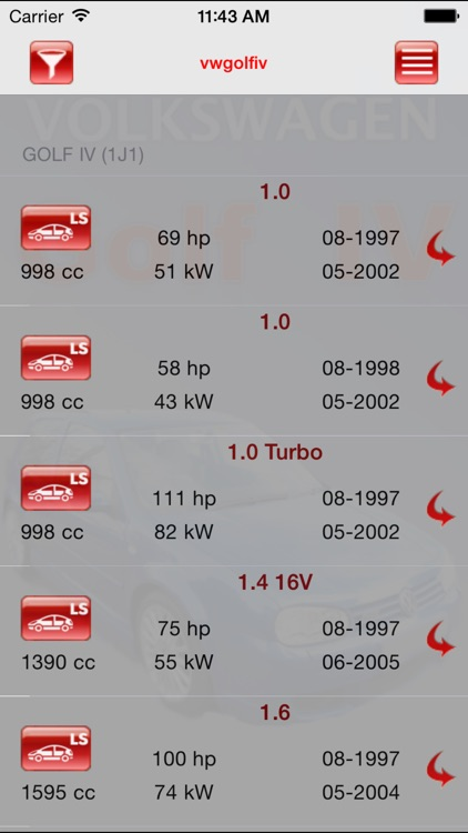AutoParts VW Golf IV
