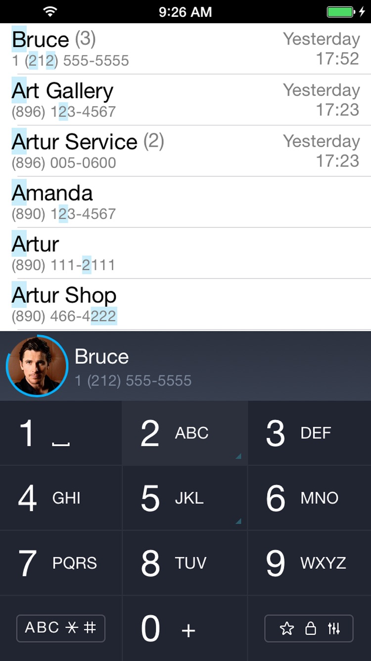 iCaller - T9 search contacts Screenshot