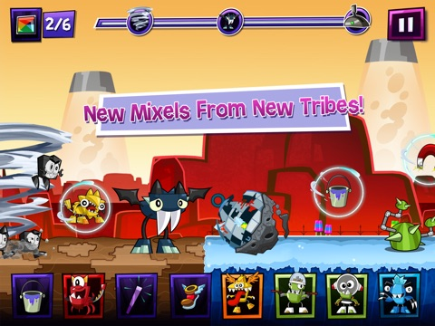 Mixels Rush tablet App screenshot 1