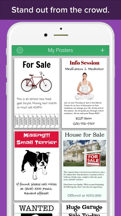 PosterMaker - Create a real printable poster or flyer design