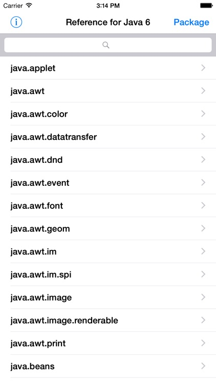 Reference for Java 6